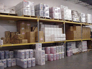 10,000 square feet of chemical, vending and parts inventory